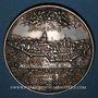 Coins Strasbourg. Médaille 1627. Surmoulage ancien (avec coin non cassé) en argent. 44,38 mm