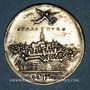 Coins Strasbourg. Médaille 1628. Argent doré. 26,1 mm. Gravée par J.G. Lutz et F. Fecher