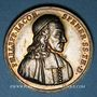 Coins Strasbourg. Philippe-Jacques Spener (1635-1705). Médaille argent. 32,05 mm
