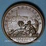 Coins Strasbourg. Rétablissement du culte catholique à la cathédrale, 1681. Médaille bronze. 41 mm