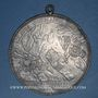 Coins Strasbourg. Strasbourg fortifiée. 1683. Epreuve uniface. Etain. 85 mm.