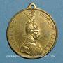 Coins Strasbourg. Visite de Guillaume II – Défilé militaire. 1889. Médaille laiton. 30,4 mm