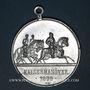 Coins Strasbourg. Visite de Guillaume II – Manœuvres. 1899. Médaille aluminium. 39 mm, avec son œillet.