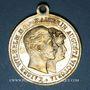 Coins Strasbourg. Visite de Guillaume II. 1889. Médaille laiton argenté. 27,2 mm