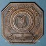 Coins Thann. La Croix de guerre décernée à la ville de Thann. 1919. Médaille bronze. Carrée à coins coupés