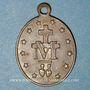 Coins Thierenbach. Souvenir de Notre Dame (19e - début 20e). Laiton argenté. Ovale, 19,23 x 26,71 mm