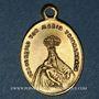 Coins Thierenbach. Souvenir de Notre Dame (19e - début 20e). Laiton. Ovale, avec œillet. 13,72 x 19,94 mm