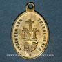 Coins Thierenbach. Souvenir de Notre Dame (19e - début 20e). Laiton. Ovale, avec œillet. 15,32 x 22,74 mm
