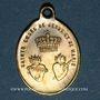 Coins Trois Epis. Souvenirs du sanctuaire (19e). Laiton. 16,96 x 23,76 mm