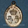 Coins Trois Epis. Souvenirs du sanctuaire (19e). Laiton. 17 x 23,96 mm