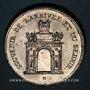 Coins Visite de Charles X. 1828. Etain. 35,16 mm. Gravée par C. Müller.