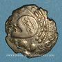 Coins Aulerques Eburovices (2e siècle - 1ère moitié du 1er siècle av. J-C). Hémistatère à la joue tatouée