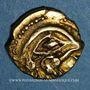 Coins Bellovaques. Région de Beauvais. 1/4 statère à l'astre, vers 80 - 50 av. J-C