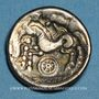 Coins Calètes (pays de Caux) (2e siècle av. J-C). Hémistatère à la roue