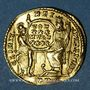 Coins Constance II (337-361). Solidus. Trèves. R/: Rome et Constantinople