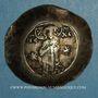 Coins Empire byzantin. Manuel I Comnène (1143-1180). Aspron trachy d'electrum. Constantinople, 1160-1164