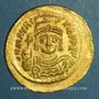 Coins Empire byzantin. Maurice Tibère (582-602). Solidus. Constantinople, 9e officine. 583-601