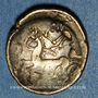 Coins Helvètes (2e siècle av. J-C). 1/4 statère à la croisette