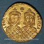 Coins Léon IV avec son fils Constantin VI. Solidus, Constantinople, 776-778