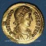 Coins Théodose I (379-395). Solidus. Constantinople, 4e officine, 378-383