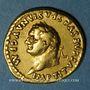 Coins Titus (79-81). Aureus. Rome, 80. R/: couronne sur une chaise curule