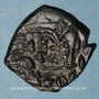 Coins Empire byz. Constant II (641-668). Follis refrappé /ancienne monnaie. Constantinople, an 3 = 643-644