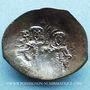Coins Empire byzantin. Alexis III Ange (1195-1205). Trachy de billon. Constantinople