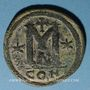 Coins Empire byzantin. Anastase (491-518). Follis. Constantinople, 4e officine, 498-518