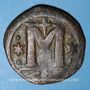 Coins Empire byzantin. Anastase (491-518). Follis. Constantinople, 5e officine, 498-518