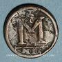 Coins Empire byzantin. Anastase (491-518). Follis. Nicomédie, 507-512