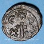 Coins Empire byzantin. Constant II (641-668). 1/2 follis. Carthage, 4e émission, 648-658