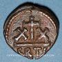 Coins Empire byzantin. Constant II (641-668). 1/2 follis. Carthage, 643-647