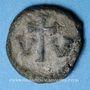 Coins Empire byzantin. Constant II (641-668). Décanoummion. Carthage, 2e émission, 643-647