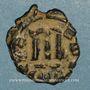 Coins Empire byzantin. Constant II (641-668). Follis. Constantinople, 644-645