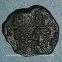 Coins Empire byzantin. Constantin V (741-775) avec Léon IV & Léon III. Follis. Syracuse, 751-775