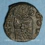 Coins Empire byzantin. Constantin V (741-775) et son fils Léon IV. Follis. Syracuse, 751-775