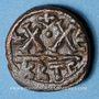 Coins Empire byzantin. Héraclius (610-641). 1/2 follis. Carthage, 610-641