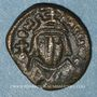 Coins Empire byzantin. Héraclius (610-641). 1/2 follis. Carthage, 616-621
