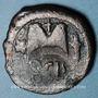 Coins Empire byzantin. Héraclius (610-641). Follis contremarqué /follis de Justinien I. Sicile vers 620
