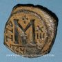 Coins Empire byzantin. Héraclius. Occupation perse de la Syrie (610-629). Follis, 2e officine, an 13