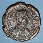 Coins Empire byzantin. Justin I (518-527). Follis. Constantinople, 518-522