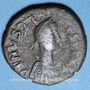 Coins Empire byzantin. Justin I (518-527). Follis. Constantinople, 5e officine, 518-527