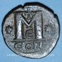Coins Empire byzantin. Justin I (518-527). Follis. Constantinople, 5e officine, 518-527