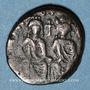 Coins Empire byzantin. Justin II (565-578). 1/2 follis. Carthage, 574-575