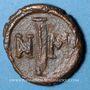 Coins Empire byzantin. Justin II (565-578). Décanoummion. Carthage, 572-573