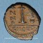 Coins Empire byzantin. Justin II (565-578). Décanoummion. Théoupolis (Antioche), 565-566