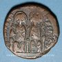 Coins Empire byzantin. Justin II (565-578). Follis. Constantinople, 3e officine, 572-573