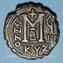 Coins Empire byzantin. Justin II (565-578). Follis. Cyzique, 2e officine, 573-574