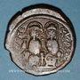 Coins Empire byzantin. Justin II (565-578). Follis. Nicomèdie, 1ère officine, 573-574
