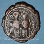Coins Empire byzantin. Justin II (565-578). Follis. Nicomédie, 2e officine, 569-570